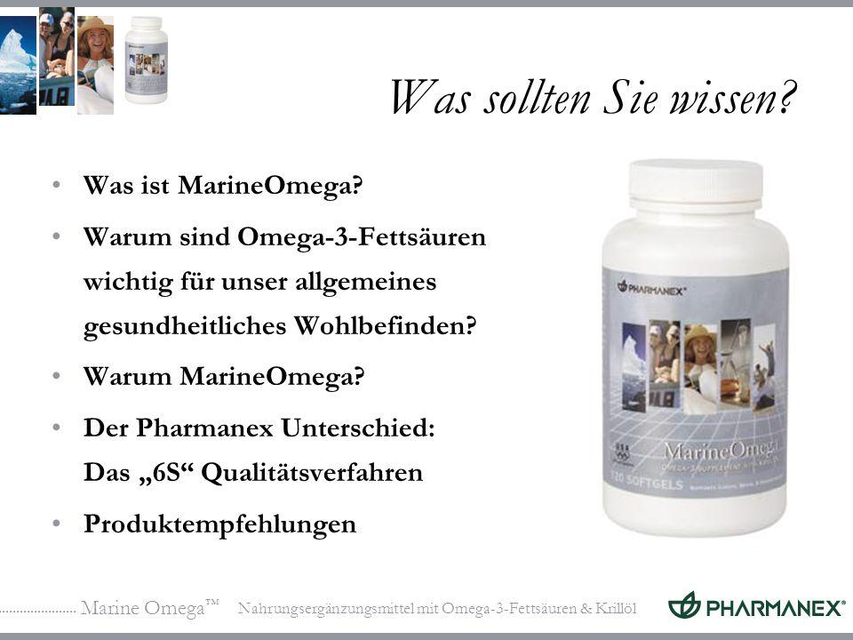 Marine Omega Nahrungsergänzungsmittel mit Omega-3-Fettsäuren & Krillöl Was sollten Sie wissen? Was ist MarineOmega? Warum sind Omega-3-Fettsäuren wich