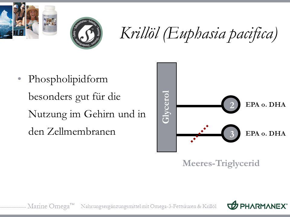 Marine Omega Nahrungsergänzungsmittel mit Omega-3-Fettsäuren & Krillöl Krillöl (Euphasia pacifica) Phospholipidform besonders gut für die Nutzung im G