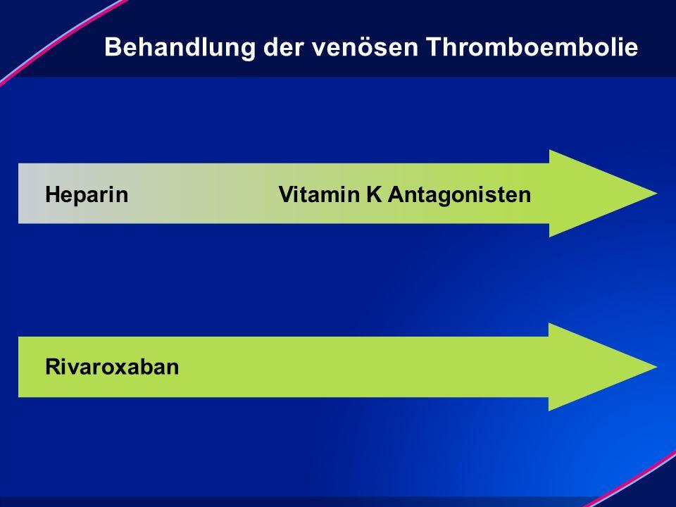 Behandlung der venösen Thromboembolie Heparin Vitamin K Antagonisten Rivaroxaban