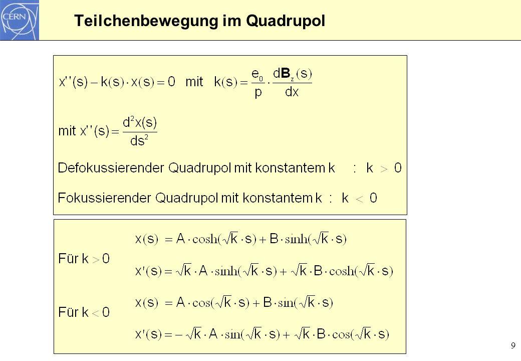 9 Teilchenbewegung im Quadrupol