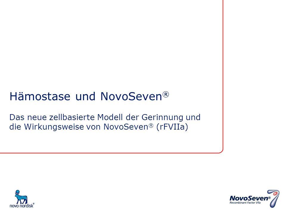 Hämostase und NovoSeven ® Das neue zellbasierte Modell der Gerinnung und die Wirkungsweise von NovoSeven ® (rFVIIa)