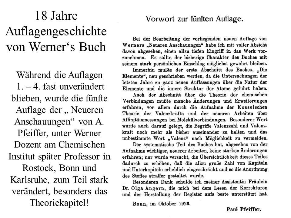 16.05.2014/ HB / 3 18 Jahre Auflagengeschichte von Werners Buch Während die Auflagen 1. – 4. fast unverändert blieben, wurde die fünfte Auflage der Ne