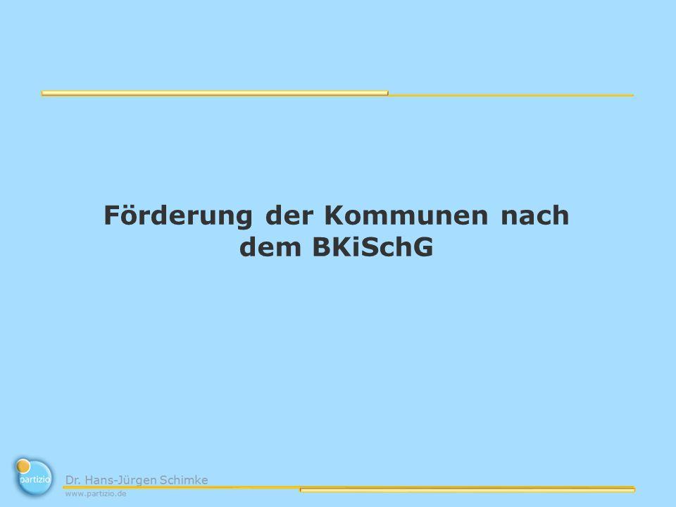 Förderung der Kommunen nach dem BKiSchG