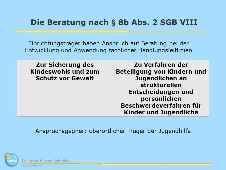 Die Beratung nach § 8b Abs.