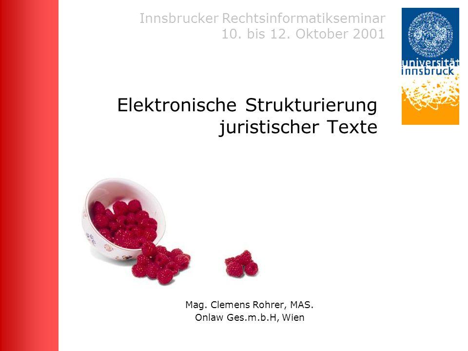 Innsbrucker Rechtsinformatikseminar 2001 Mag.