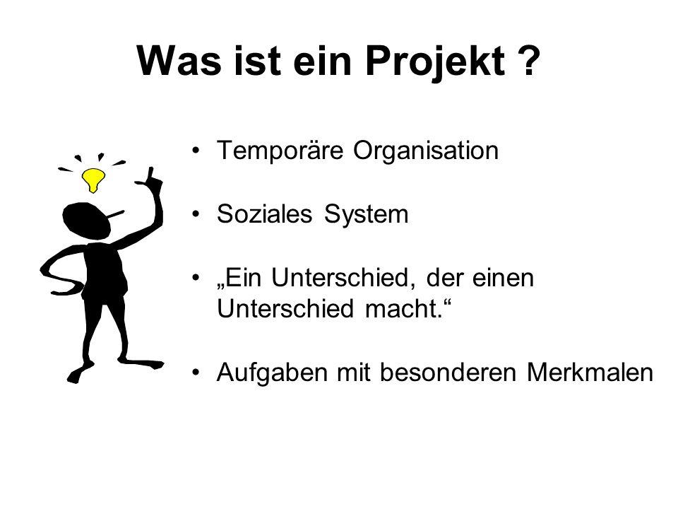 Aufgaben mit besonderen Merkmalen (Projektabgrenzung und -kontextanalyse) Abgrenzung Kontext zeitlichsachlichsozial Listung Projektumwelten Projekt Interne Abt.
