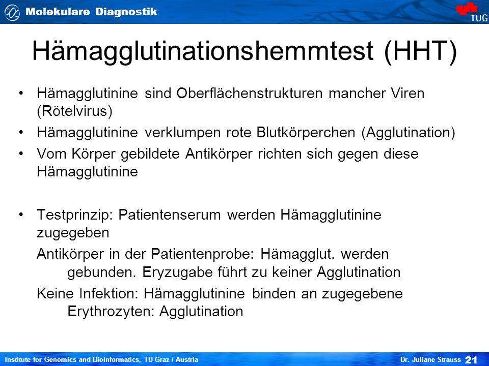 Molekulare Diagnostik 21 Institute for Genomics and Bioinformatics, TU Graz / Austria Dr.