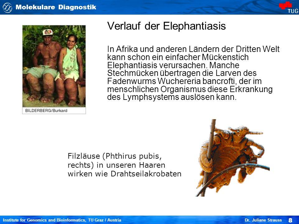 Molekulare Diagnostik 8 Institute for Genomics and Bioinformatics, TU Graz / Austria Dr.