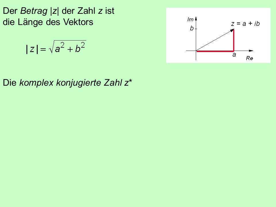 5.7 Die komplexen Zahlen x 2 = (-1) imaginäre Einheit i = (-1) Eine komplexe Zahl z besteht aus Realteil a und Imaginärteil ib z = a + i b Ist a = 0,