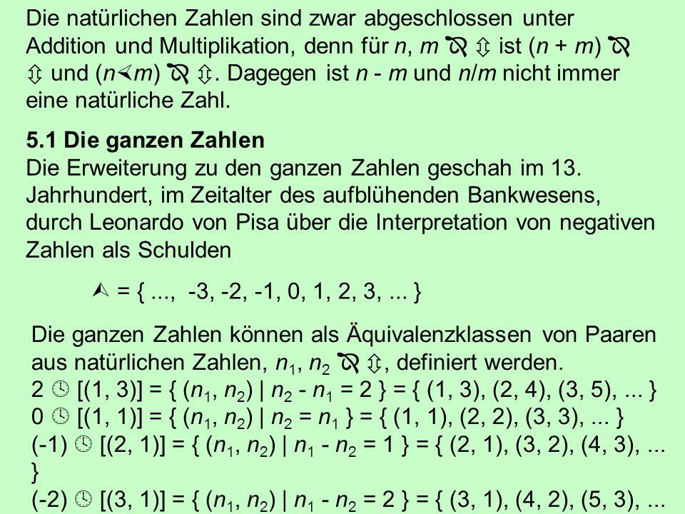 Addition und Subtraktion erfolgen komponentenweise: (a + ib) + (c + id) = (a + c) + i(b + d) (a + ib) - (c + id) = (a - c) + i(b - d) Bei der Multiplikation i 2 = (-1) beachten, i 2 bd = -bd: (a + ib) (c + id) = (ac - bd ) + i(ad + bc) Bei der Division (a + ib) / (c + id) verwendet man den reellen Hauptnenner (c + id) (c - id): i ii = i 2 = -1 iii = i 3 = -i iiii = i 4 = 1 iiiii = i 5 = i Rafael Bombelli (1526 – 1572)