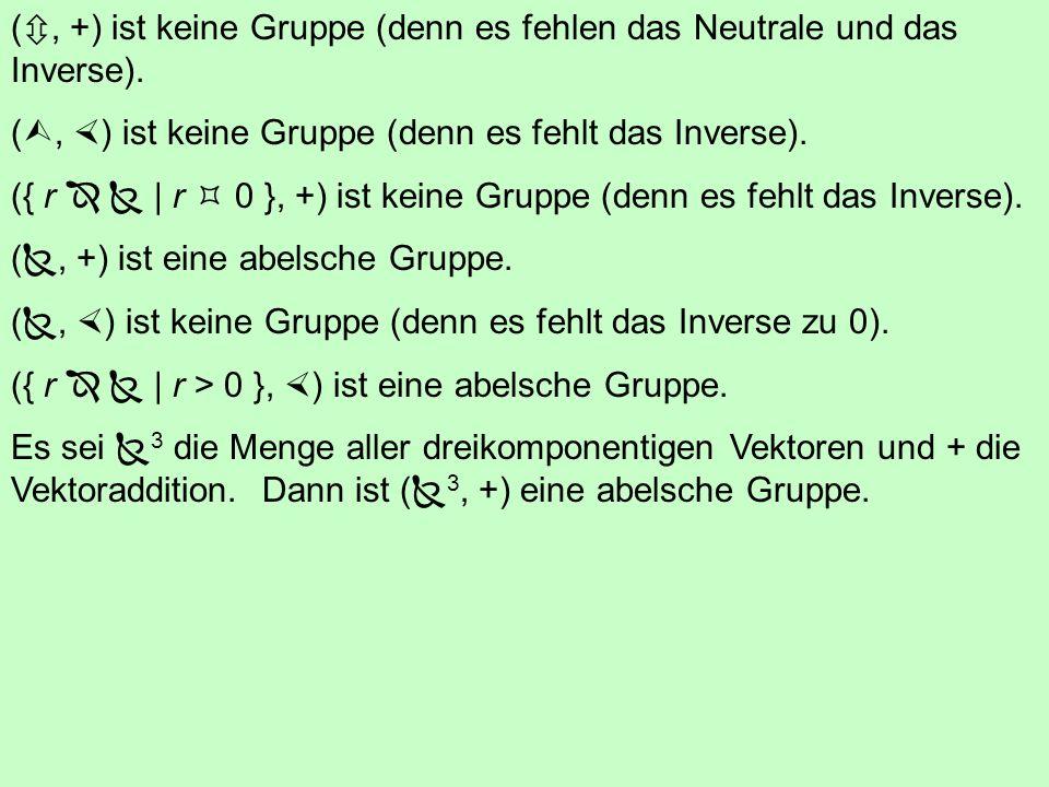 5.2 Gruppe Eine Gruppe (G, ) ist eine endliche oder unendliche Menge G zusammen mit einer Operation so dass: G ist abgeschlossen bezüglich der Operati
