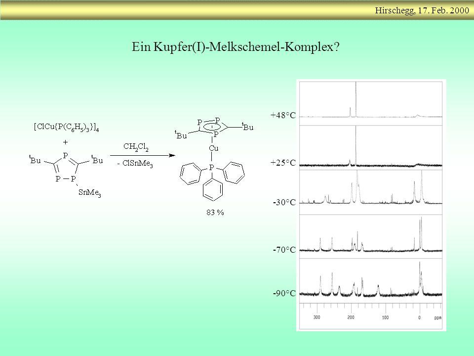 Hirschegg, 17. Feb. 2000 Ein Kupfer(I)-Melkschemel-Komplex? +48°C -90°C -70°C -30°C +25°C
