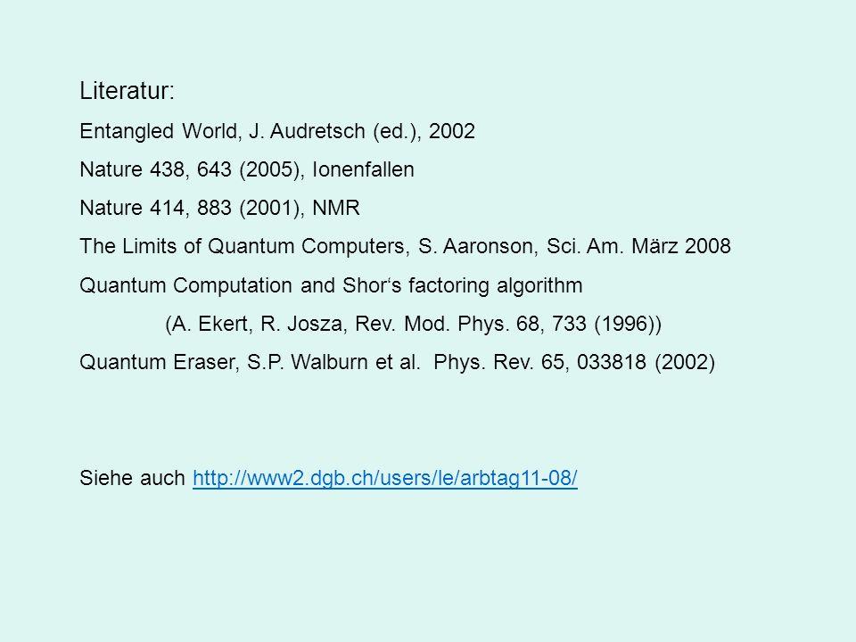 Bis 8 Ca-Ionen D 5/2 1.16 s 656100 Messungen in 10 h (2005)