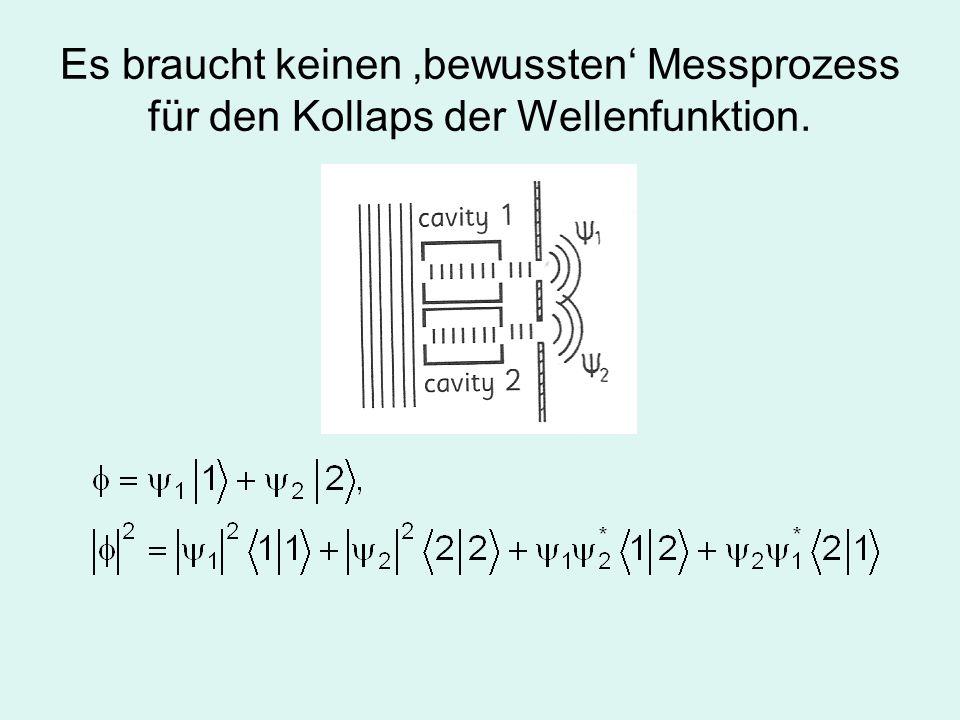 Der quantenmechanische Messprozess am Endzustand ist unscharf.