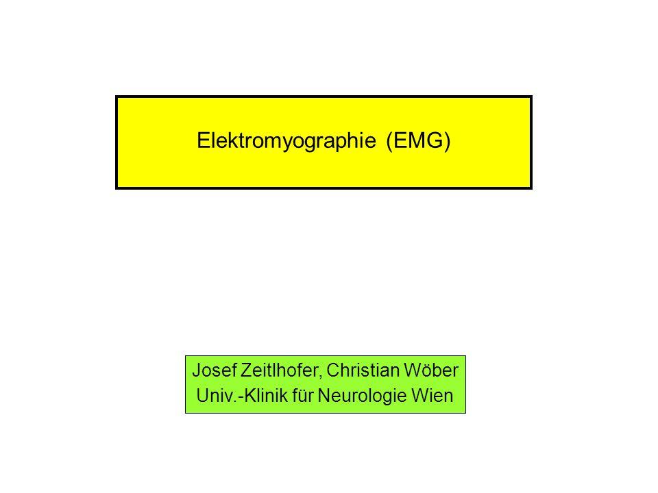 Elektromyographie (EMG) Josef Zeitlhofer, Christian Wöber Univ.-Klinik für Neurologie Wien