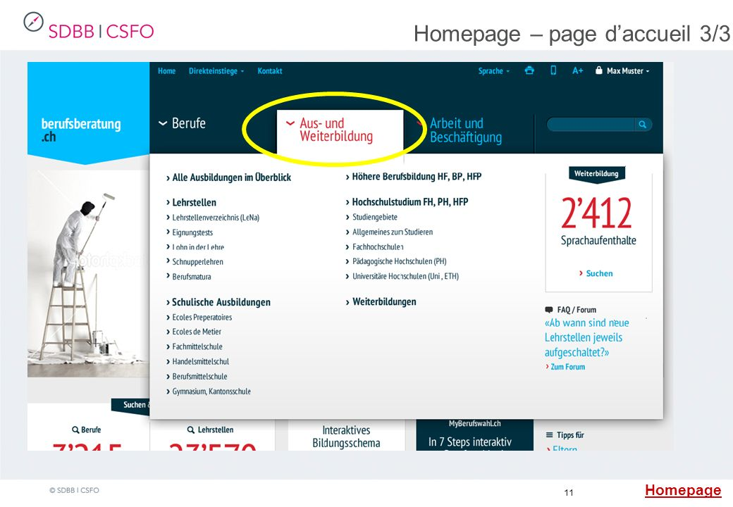 11 Homepage – page daccueil 3/3 Claim Footer Homepage