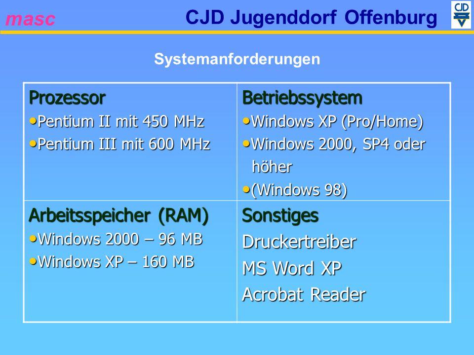 masc CJD Jugenddorf Offenburg Stand 0491 Einbindung weitere Berufsbilder.