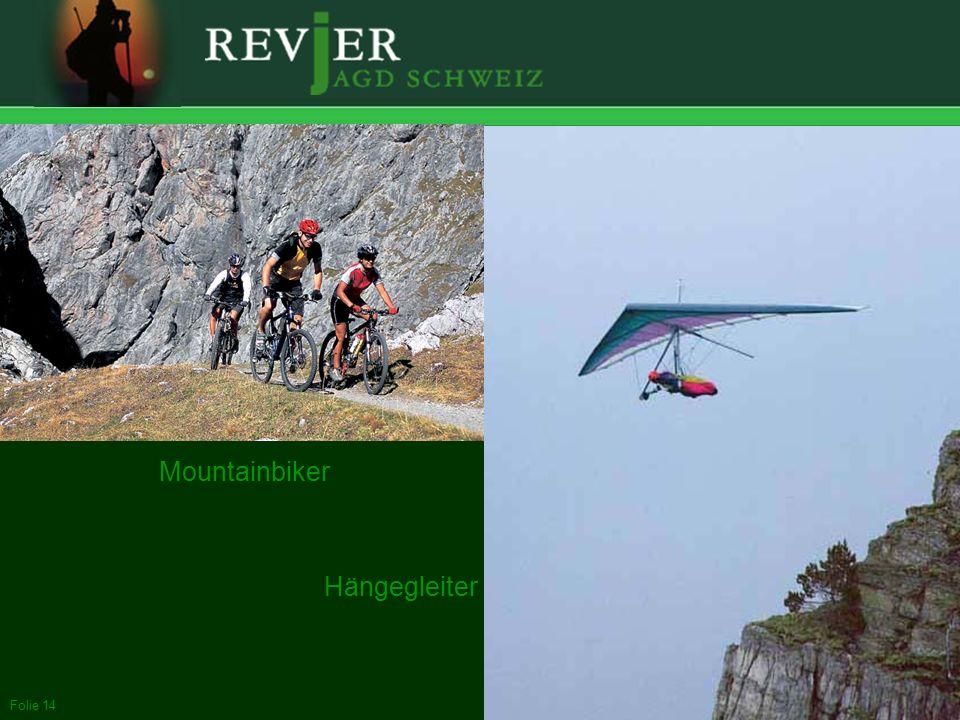 Erstellt: 11.10.2005Folie 14 Mountainbiker Hängegleiter