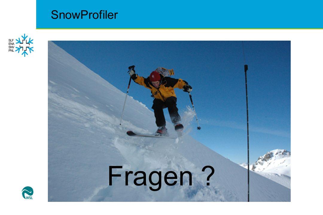 SnowProfiler Fragen ?