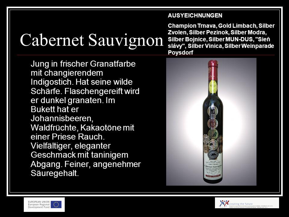 Cabernet Sauvignon Jung in frischer Granatfarbe mit changierendem Indigostich.