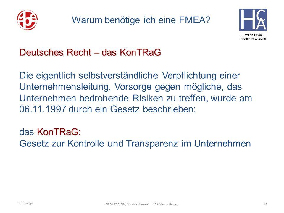 Wenn es um Produktivität geht! ZUNEHMEND KOMPLEX Deutsches Recht – das KonTRaG KonTRaG: Deutsches Recht – das KonTRaG Die eigentlich selbstverständlic