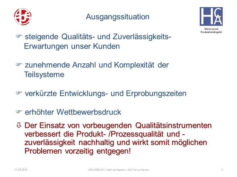 Wenn es um Produktivität geht! òDer Einsatz von vorbeugenden Qualitätsinstrumenten verbessert die Produkt- /Prozessqualität und - zuverlässigkeit nach