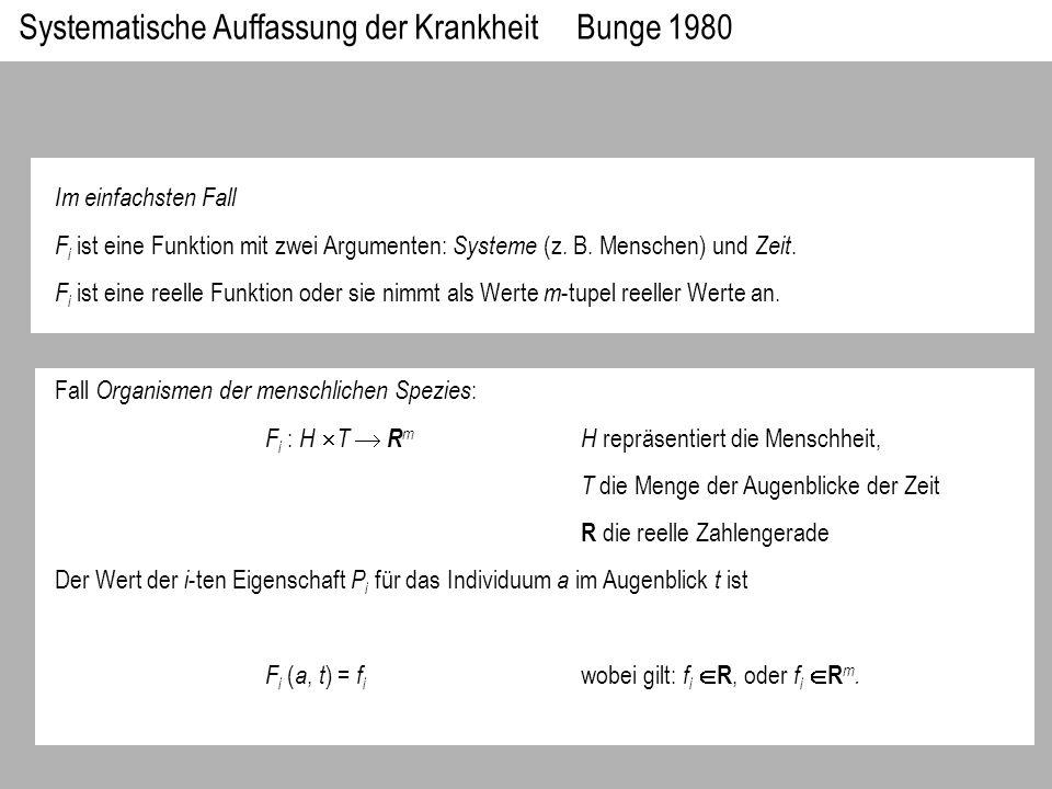 Im einfachsten Fall F i ist eine Funktion mit zwei Argumenten: Systeme (z. B. Menschen) und Zeit. F i ist eine reelle Funktion oder sie nimmt als Wert