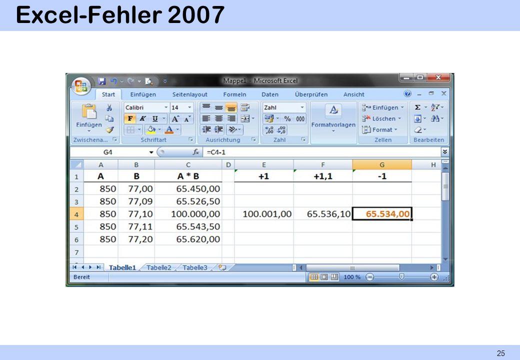 Excel-Fehler 2007 25