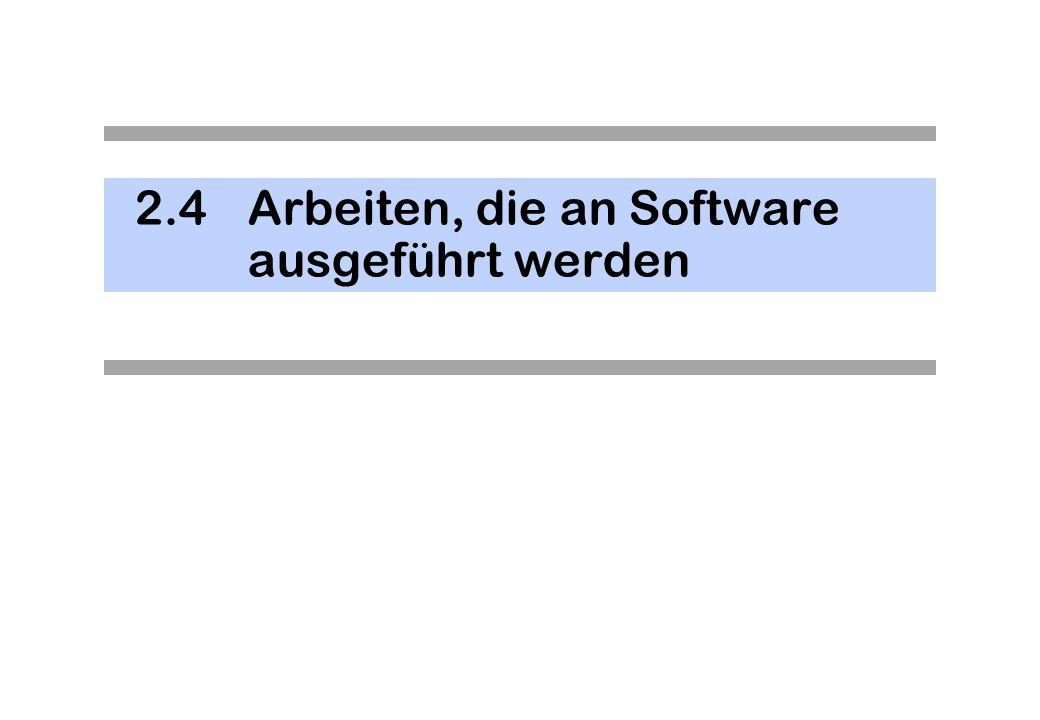 2.4Arbeiten, die an Software ausgeführt werden