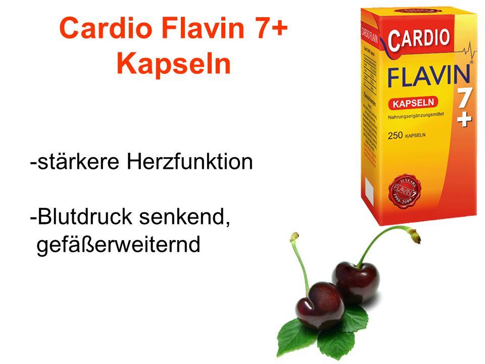 Cardio Flavin 7+ Kapseln -stärkere Herzfunktion -Blutdruck senkend, gefäßerweiternd
