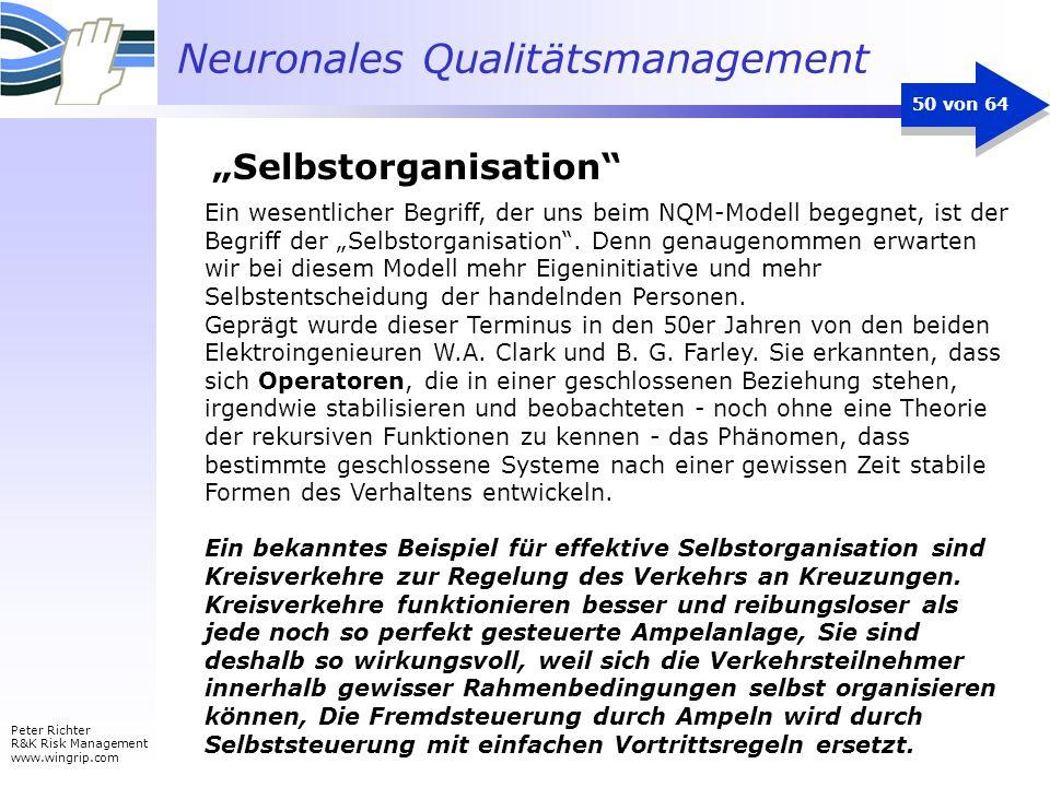 Neuronales Qualitätsmanagement Peter Richter R&K Risk Management www.wingrip.com 50 von 64 Ein wesentlicher Begriff, der uns beim NQM-Modell begegnet,