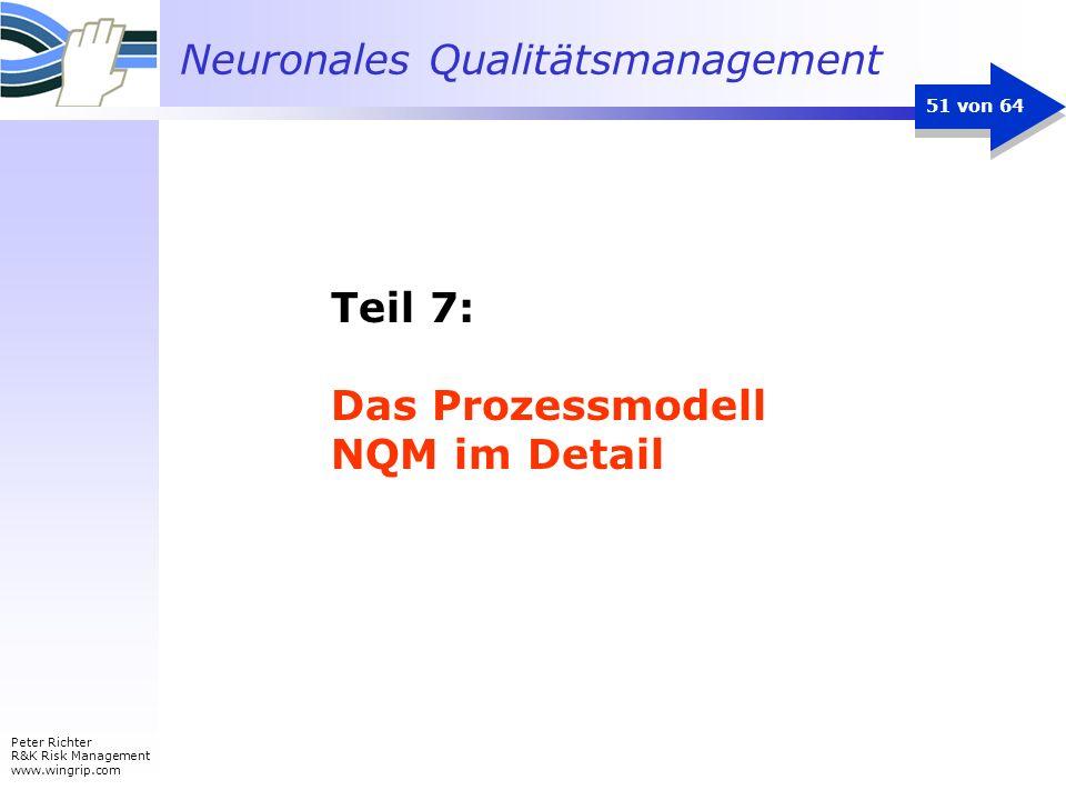 Neuronales Qualitätsmanagement Peter Richter R&K Risk Management www.wingrip.com 51 von 64 Teil 7: Das Prozessmodell NQM im Detail