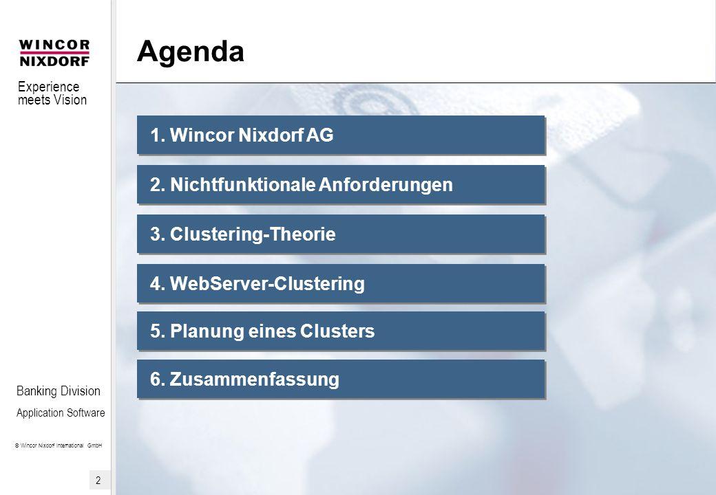 Experience meets Vision © Wincor Nixdorf International GmbH 3 Banking Division Application Software 1.
