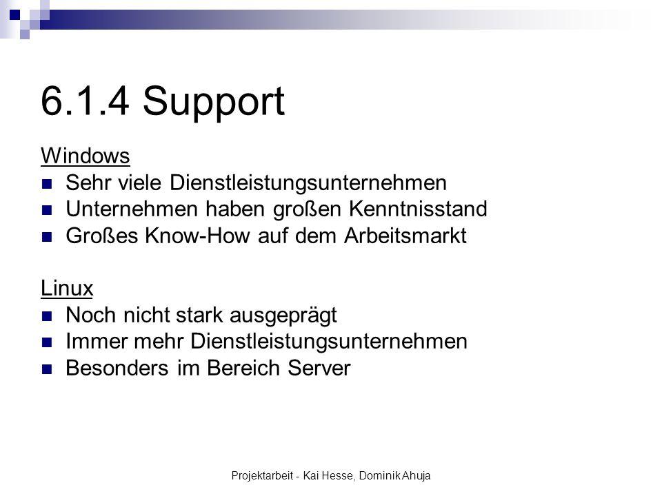 Projektarbeit - Kai Hesse, Dominik Ahuja Windows Sehr viele Dienstleistungsunternehmen Unternehmen haben großen Kenntnisstand Großes Know-How auf dem