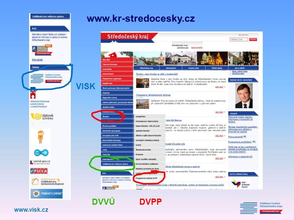 www.kr-stredocesky.cz www.visk.cz DVVÚ DVPP VISK