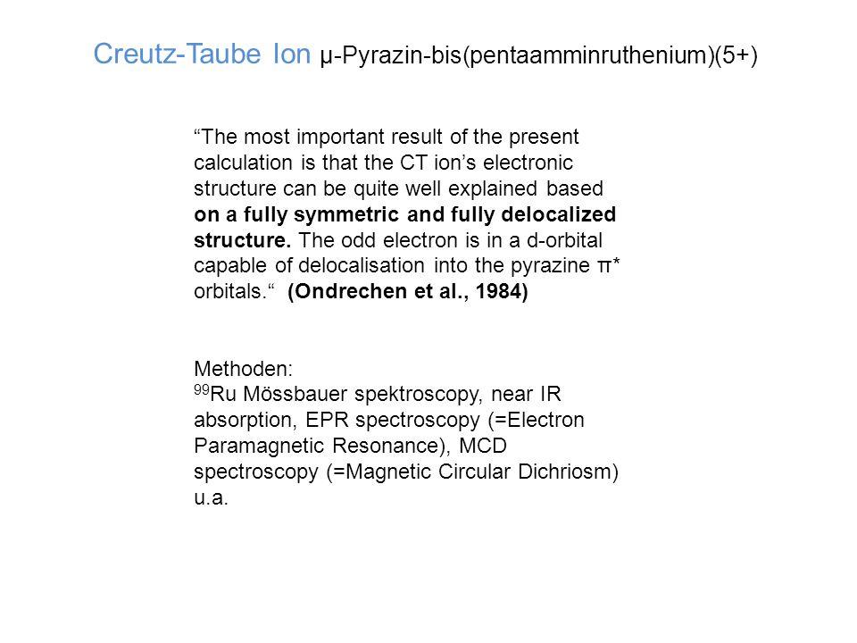 Man kann den angeregten Zustand (Triplett-Zustand) Ru(bipy) 3 2+* auch chemisch herstellen, indem man Ru(bipy) 3 3+ in wässriger Lösung mit Hydrazin N 2 H 4 reduziert.
