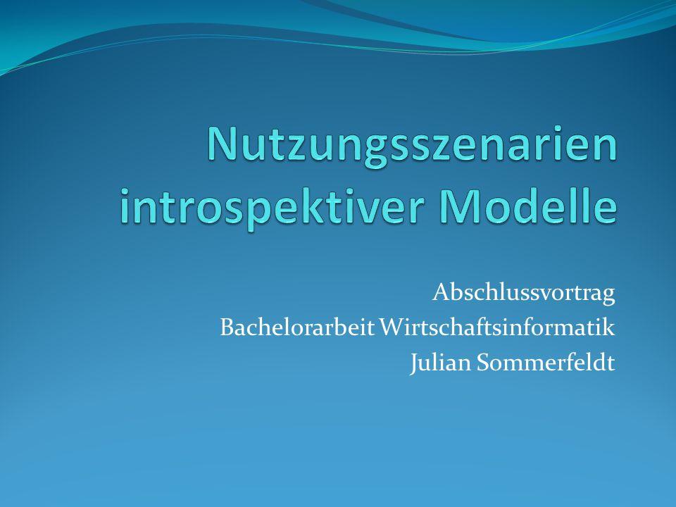 Abschlussvortrag Bachelorarbeit Wirtschaftsinformatik Julian Sommerfeldt