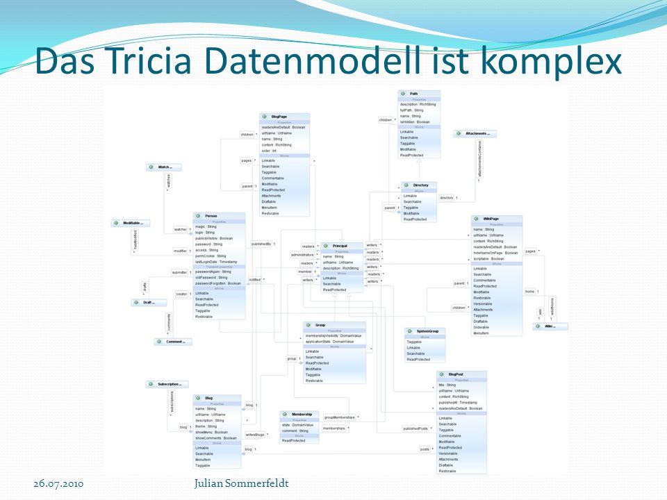 Das Tricia Datenmodell ist komplex 26.07.2010Julian Sommerfeldt