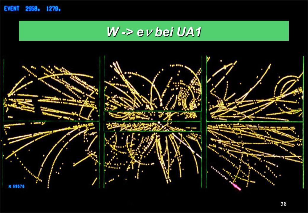 C.-E. Wulz38 W -> e bei UA1 38