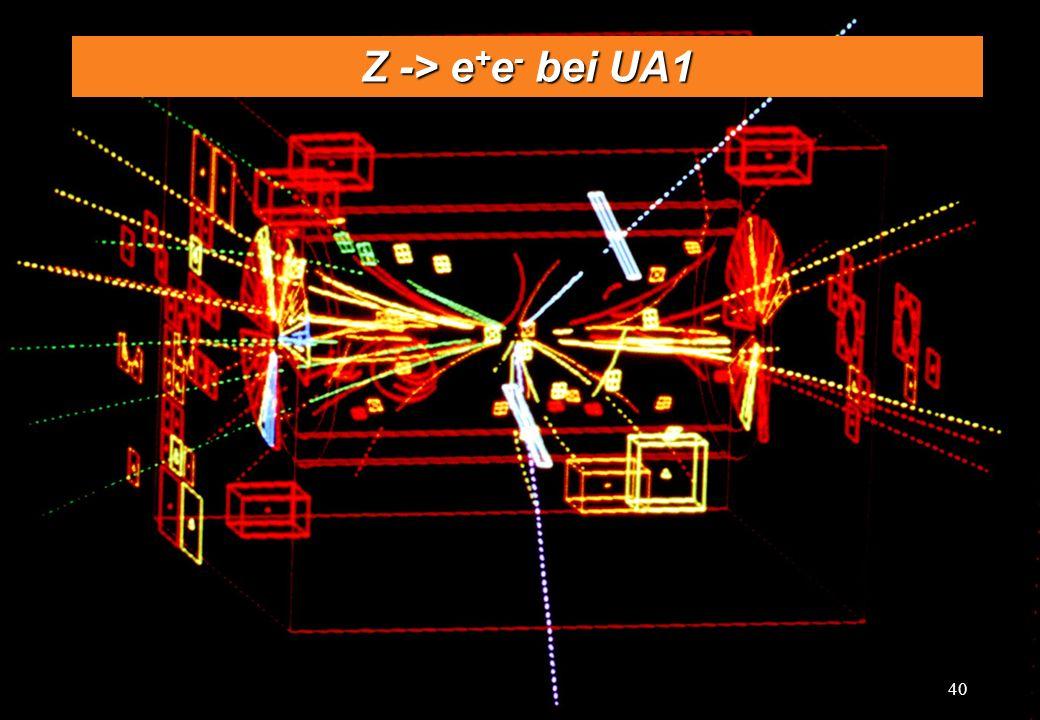 C.-E. Wulz40 Z -> e + e - bei UA1 40