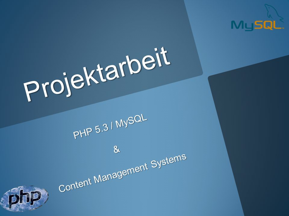 Übersicht Projektvortrag PHP und seine Funktion im Web Die Testumgebung (XAMPP) PHP Grundlagen Die Zusammenarbeit von PHP & MySQL PHP & MySQL im praktischen Einsatz CMS Grundlagen Joomla