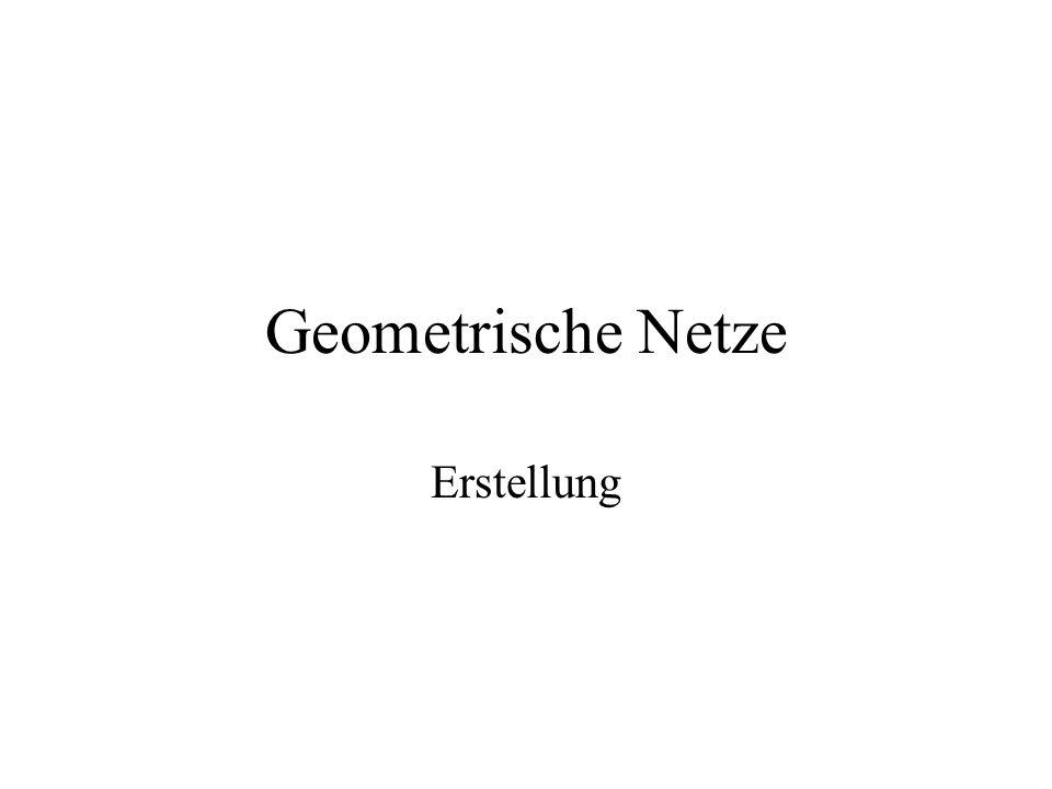 Geometrische Netze Erstellung