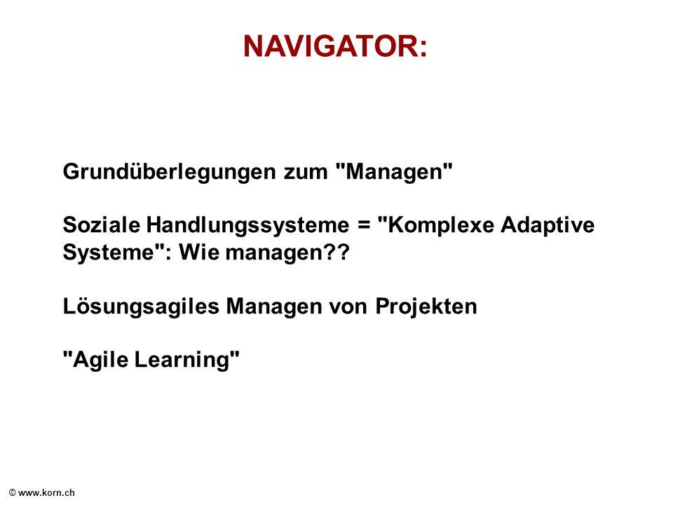 © www.korn.ch NAVIGATOR: Grundüberlegungen zum