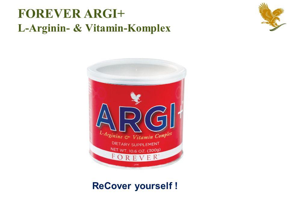 ReCover yourself ! FOREVER ARGI+ L-Arginin- & Vitamin-Komplex