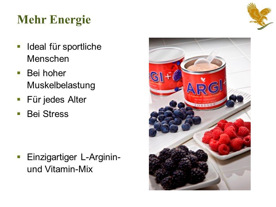 Mehr Energie Ideal für sportliche Menschen Bei hoher Muskelbelastung Für jedes Alter Bei Stress Einzigartiger L-Arginin- und Vitamin-Mix