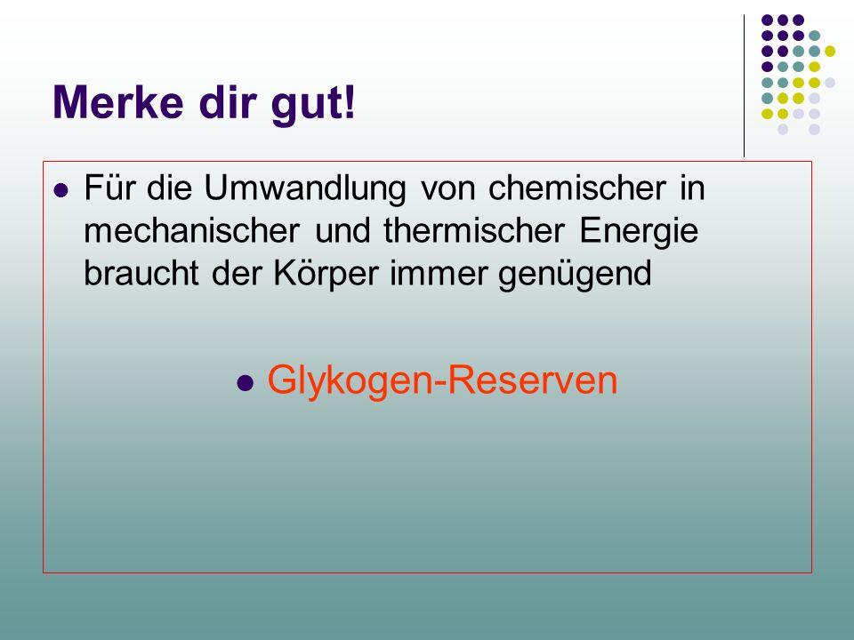 Aktomyosin- Komplex ATP Magnesium Aktin H2OH2O ATP + Myosin (ADP – P) + Myosin Aktin (ADP – P) + Myosin + Aktin Kalzium ADP-P Chemische Energiegewinnu