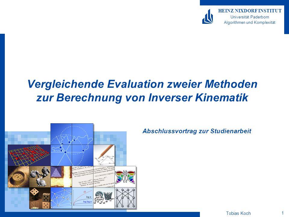Tobias Koch 2 HEINZ NIXDORF INSTITUT Universität Paderborn Algorithmen und Komplexität Einleitung Struktur des Vortrags Motivation Algorithmen Evaluationsergebnisse Zusammenfassung Ausblick