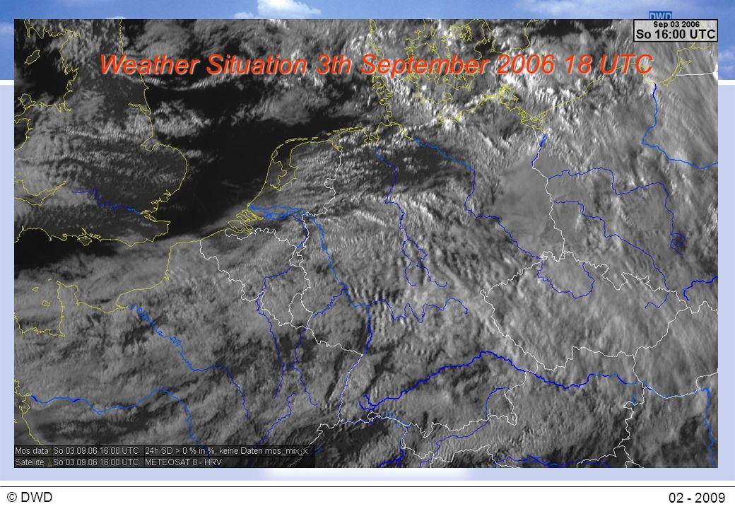 Abteilung Flugmeteorologie 02 - 2009 © DWD Weather Situation 3th September 2006 18 UTC