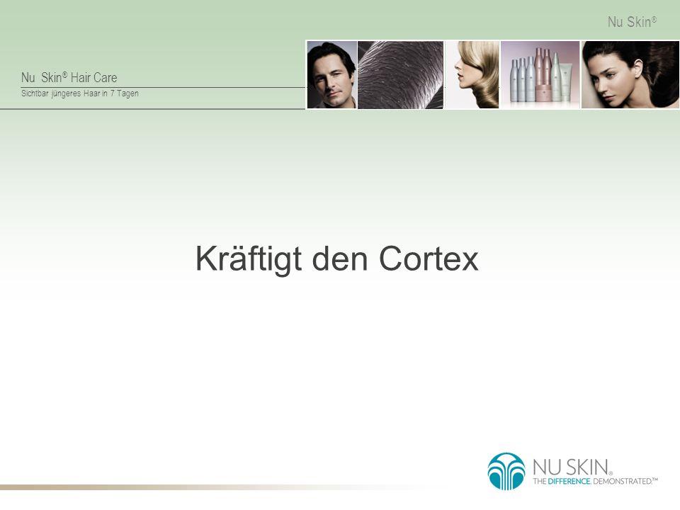 Nu Skin ® Hair Care Sichtbar jüngeres Haar in 7 Tagen Nu Skin ® Kräftigt den Cortex