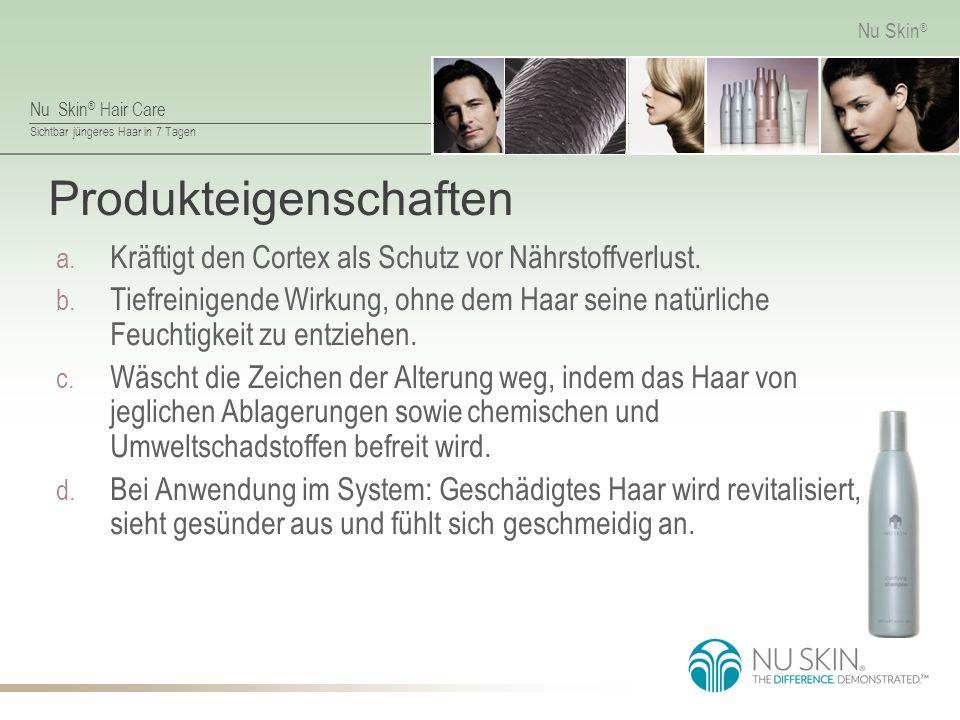 Nu Skin ® Hair Care Sichtbar jüngeres Haar in 7 Tagen Nu Skin ® Produkteigenschaften a.